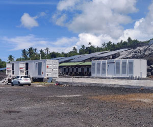 Elum Energy project of a Utility scale Solar BESS Genset plant in Comoros with Tesla batteries